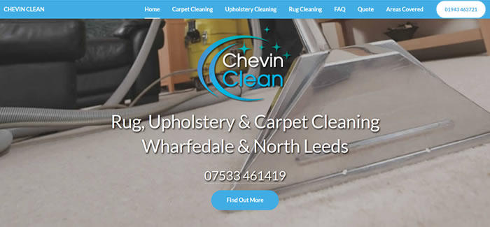 new website for Carpet Cleaning Otley