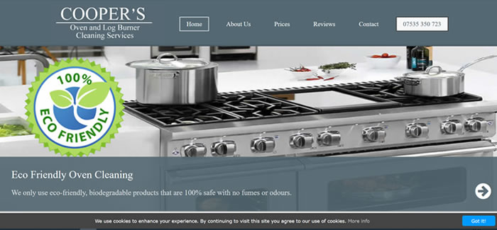 new website for oven cleaning guildford