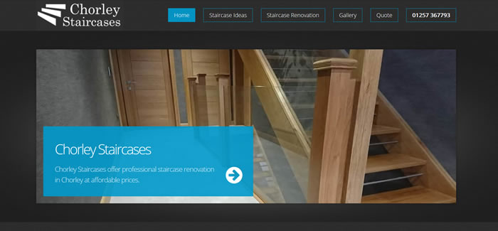 web design for staircase supplier in chorley