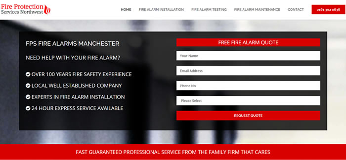 new website for Fire Alarms Manchester
