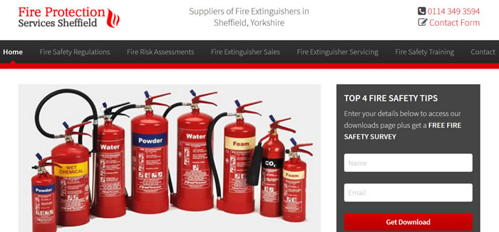 new website for Fire Extinguishers Sheffield