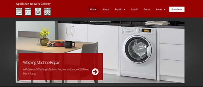 web design for washing machine repair in galway ireland