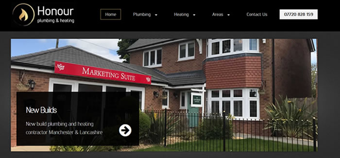 web design for Plumbers in Manchester