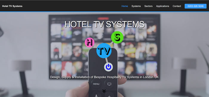 new website for hotel tv systems london