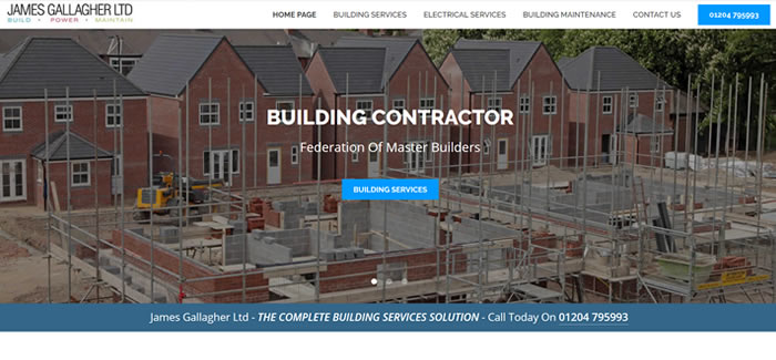 new website for building contractor in bolton