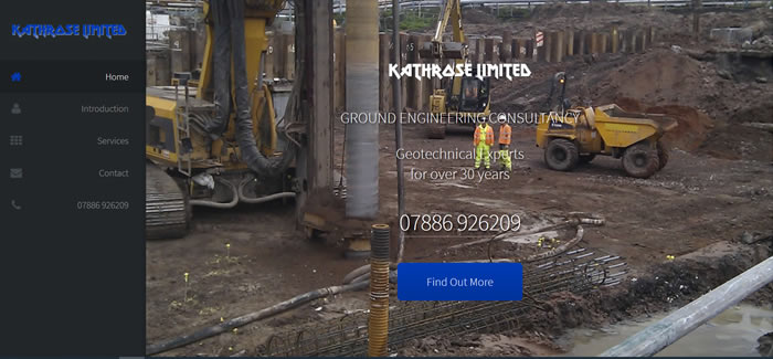 new website for Kathrose Geotechnical