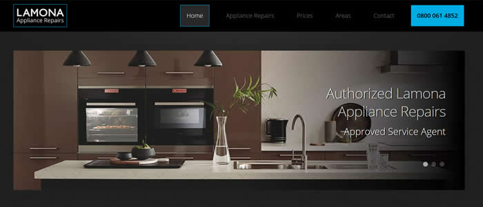 web design for lamona appliance repairs