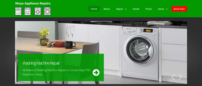 web design for appliance repairs mayo ireland