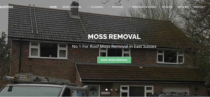web design for roof cleaning east sussex