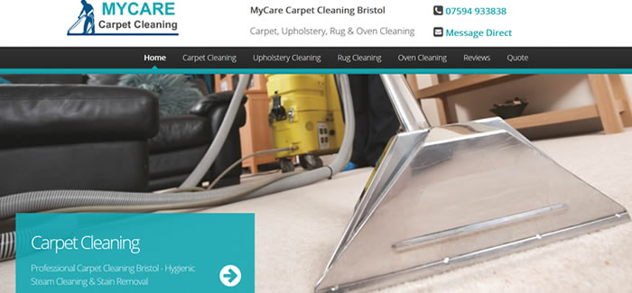 new website for Carpet Cleaning Bristol