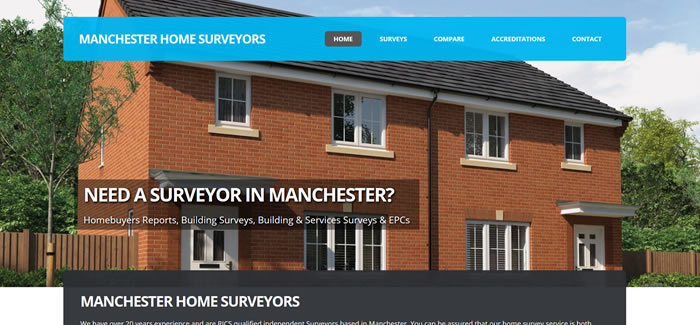 web design for surveyors in manchester