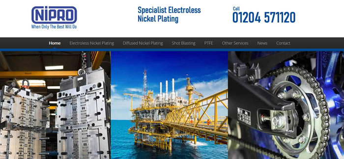 web design for electroless nickel plating manchester