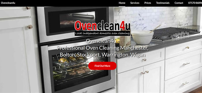 web design for Oven Cleaning Manchester