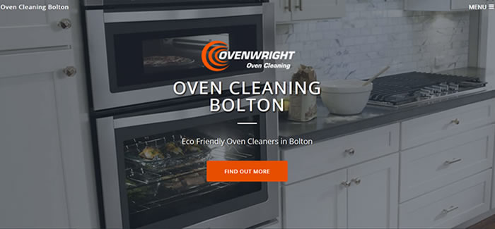 web design for oven cleaning bolton