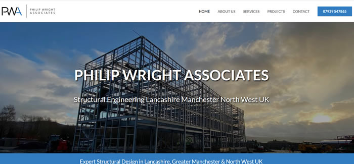 web design for Structural Engineers Lancashire