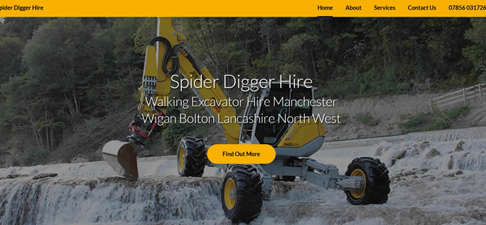 new website for Spider Digger Hire
