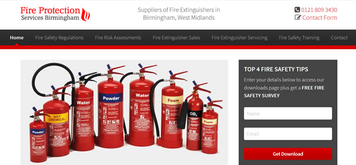 new website for fire extinguishers in birmingham