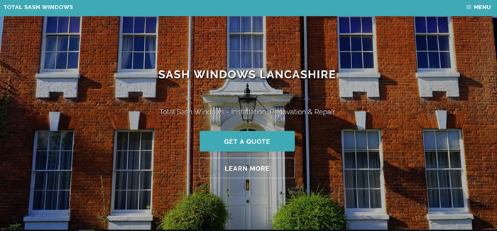 new website for sash windows in lancashire