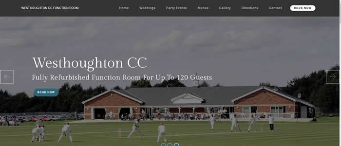 web design for Westhoughton Cricket Club